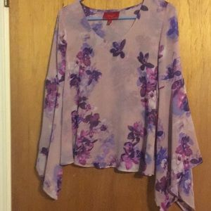 Jennifer Lopez blouse size XS purple in color
